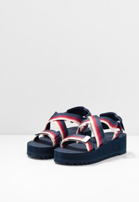 Tommy Jeans - DEGRADE TAPE FLATFORM - Platform sandals - twilight navy - 4