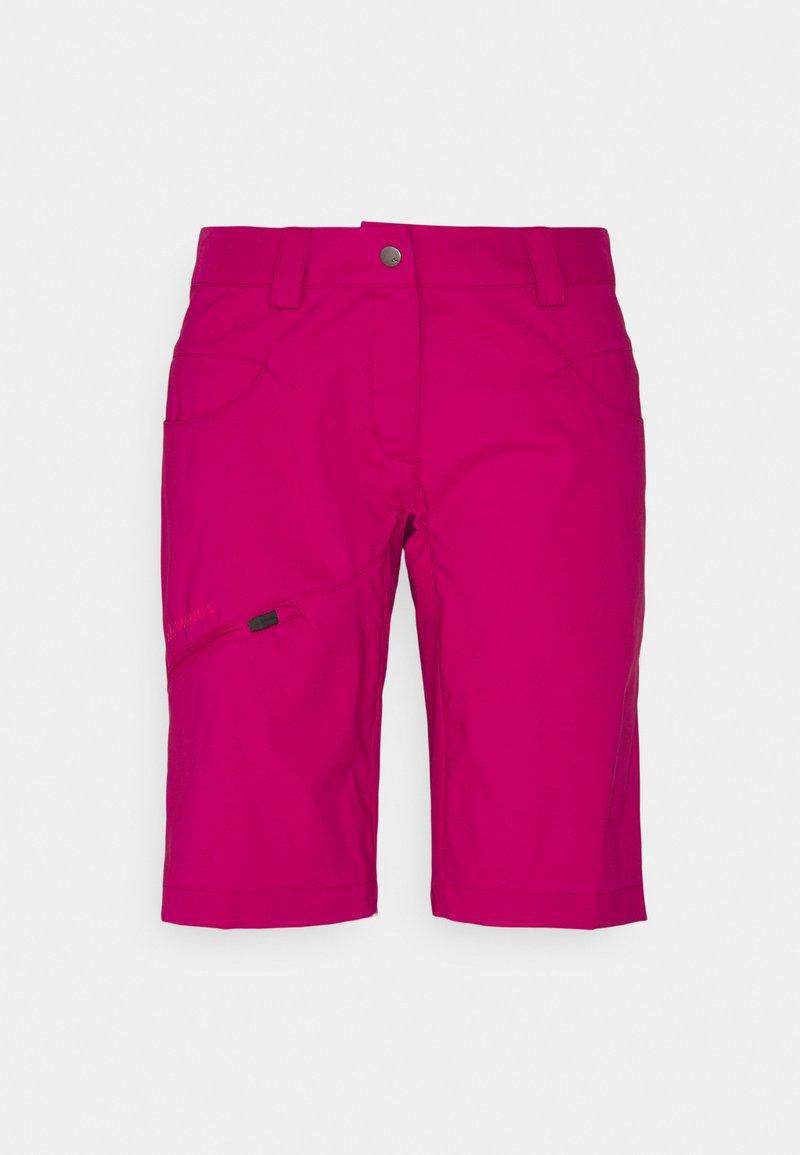 Vaude - WOMEN'S SKARVAN BERMUDA - Outdoor shorts - crimson red