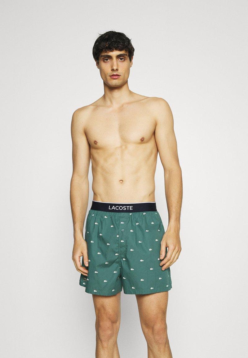 Lacoste - 3 PACK - Boxer shorts - idaho green/white/navy blue
