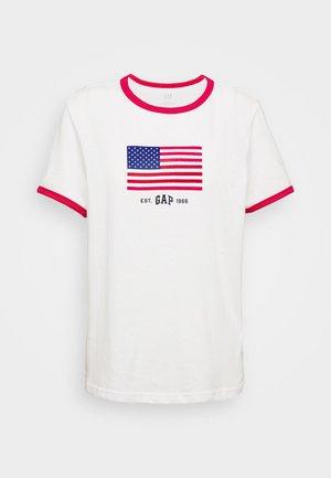 AMERICANA TEE - T-shirt z nadrukiem - fresh white