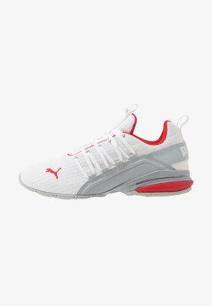 AXELION BLOCK - Zapatillas de entrenamiento - white/high risk red