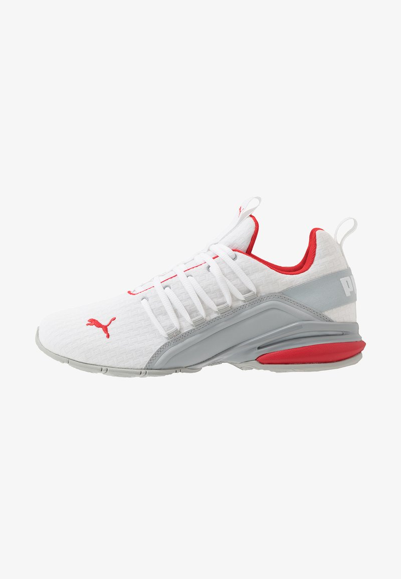 Puma - AXELION BLOCK - Sports shoes - white/high risk red