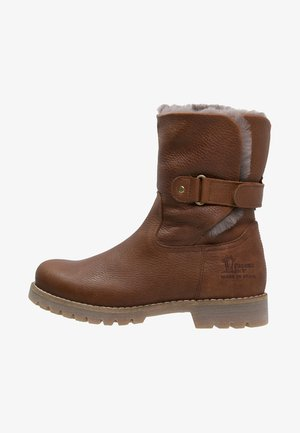 FELIA IGLOO - Cowboy/biker ankle boot - cognac