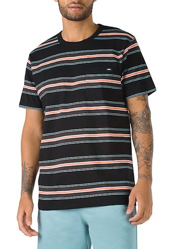 MN HARRINGTON STRIPE CREW - Print T-shirt - black