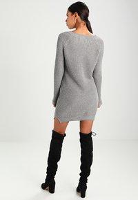 Noisy May - NMSIESTA O-NECK DRESS - Jumper dress - medium grey melange - 2