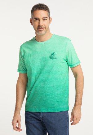 T-shirt print - jade cream