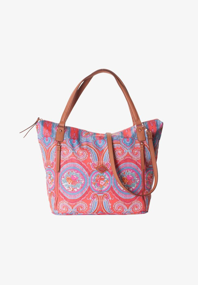 Shopping bag - hot coral