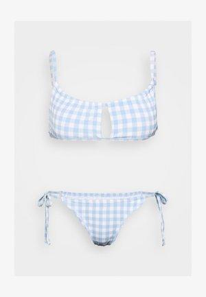 GATHERED BRALETTE BRAZILIAN SET - Bikini - pale blue