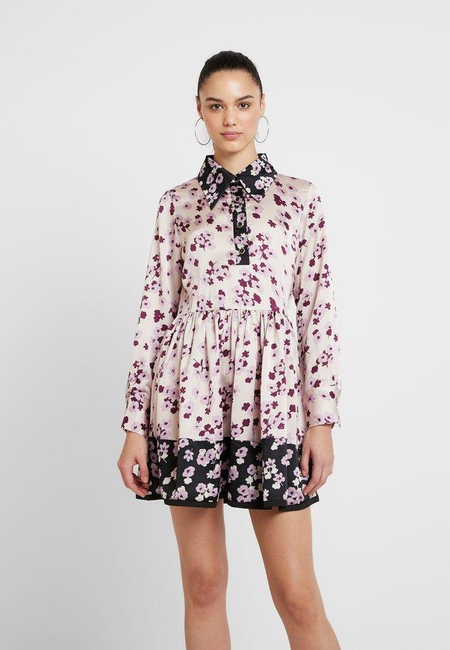 MISMATCH FLORAL MINI SKATER DRESS - Sukienka letnia - pink