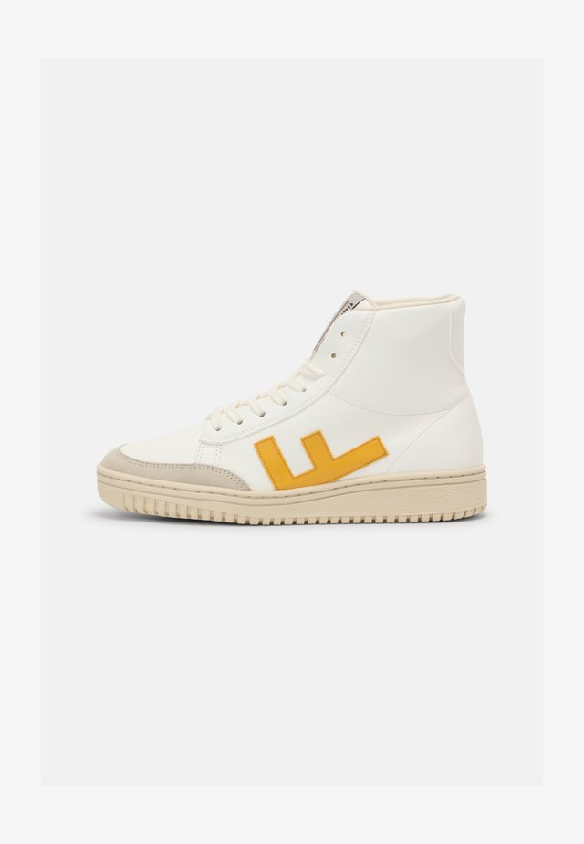 OLD 80'S  UNISEX - Sneakers hoog - white/yellow