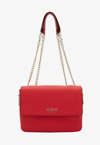 Guess - CHAIN CONVERTIBLE XBODY FLAP - Bandolera - red - 2