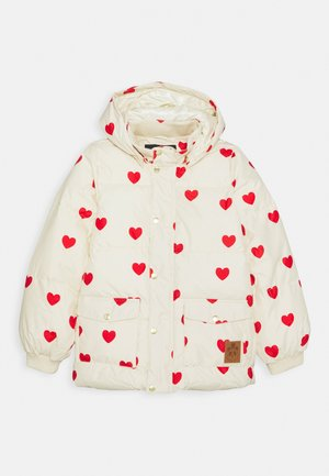 HEARTS PICO PUFFER JACKET - Zimní bunda - off white