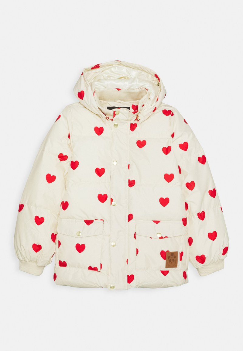 Mini Rodini - HEARTS PICO PUFFER JACKET - Zimní bunda - off white