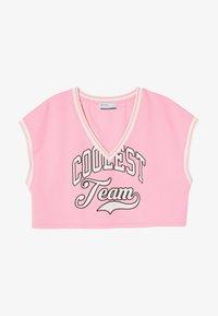 Bershka - Print T-shirt - pink - 4