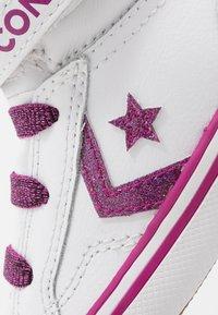Converse - PRO BLAZE STRAP SPARKLE - Zapatillas altas - white/cactus flower/photon dust - 2
