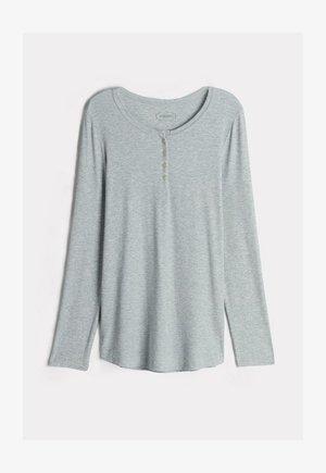 GERIPPTES LANGARMTOP AUS MODALMIX - Pyjama top - silver grey mel