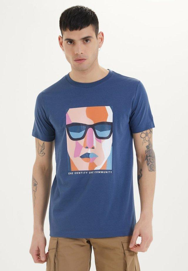 IDENTITY - Print T-shirt - dark denim