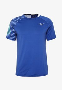 Mizuno - SHADOW TEE - Print T-shirt - true blue - 3