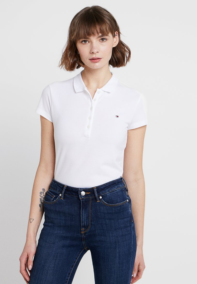 Tommy Hilfiger - HERITAGE SHORT SLEEVE - Polo - classic white