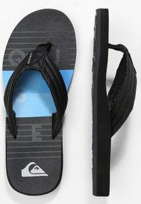 Quiksilver - CARVER PRINT - Pool shoes - black/black/blue - 0