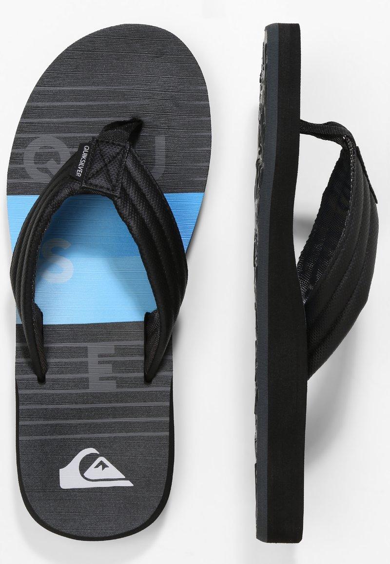 Quiksilver - CARVER PRINT - Pool shoes - black/black/blue