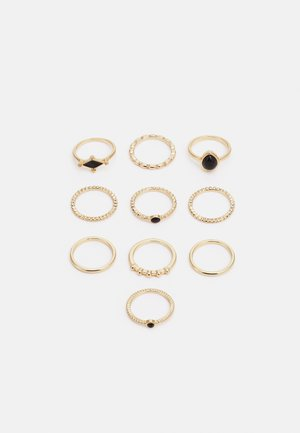 FGGABRIELLA 10 PACK - Ring - gold-coloured/black