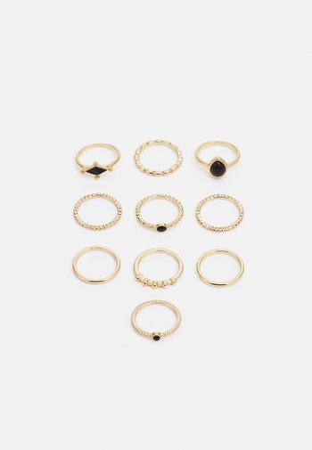 FGGABRIELLA 10 PACK - Pierścionek - gold-coloured/black
