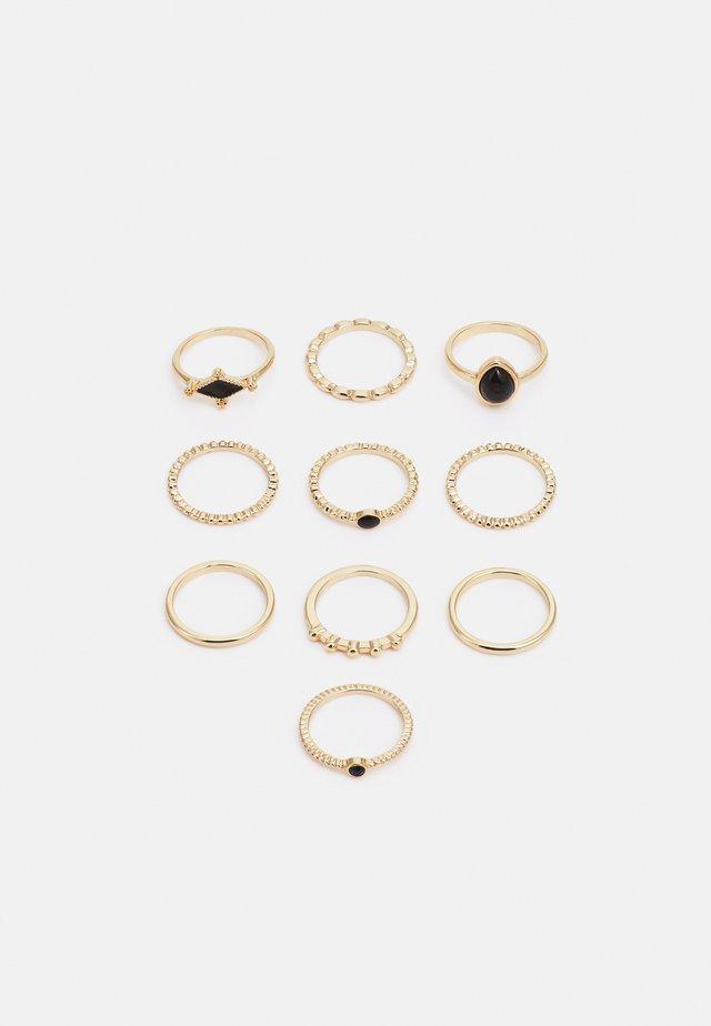 FGGABRIELLA 10 PACK - Ring - gold-coloured/black