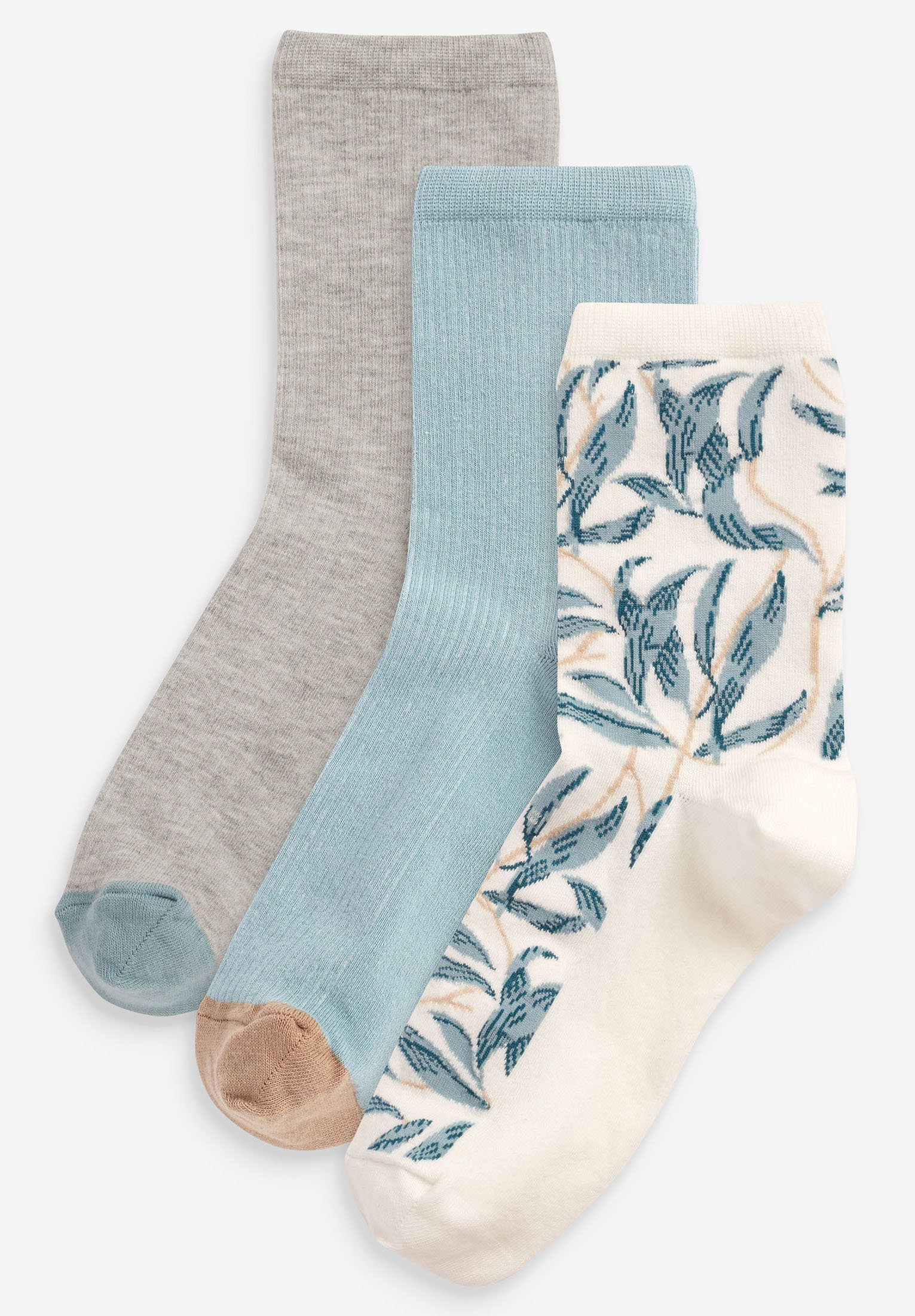 Femme MORRIS & CO. AT NEXT PRINT ANKLE SOCKS 3 PACK - Chaussettes