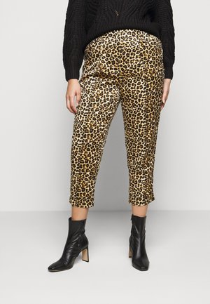 LEOPARD PRINT - Trousers - brown