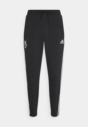 REAL MADRID SPORTS FOOTBALL PANTS - Träningsbyxor - black/white