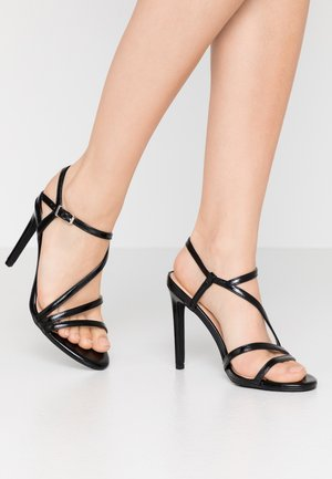 High heeled sandals - black
