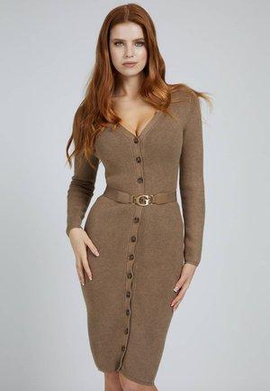 ES LS LUIS CARDIGAN - Shift dress - beige