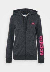 Zip-up sweatshirt - dark grey heather/rose tone