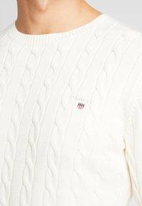 GANT - CABLE CREW - Stickad tröja - cream - 6