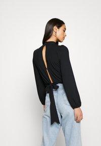 New Look - CARLEY RIB TIE TOP - Blouse - black - 2