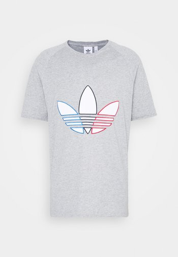 TRICOL TEE UNISEX - T-shirt z nadrukiem - medium grey heather