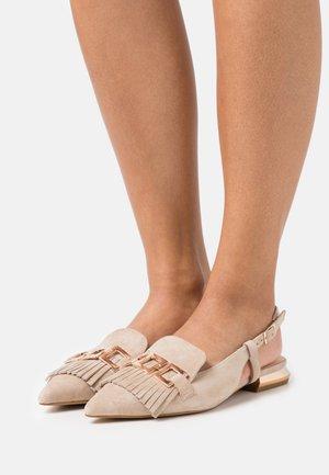 GEMMA - Slingback ballet pumps - grigio talpa