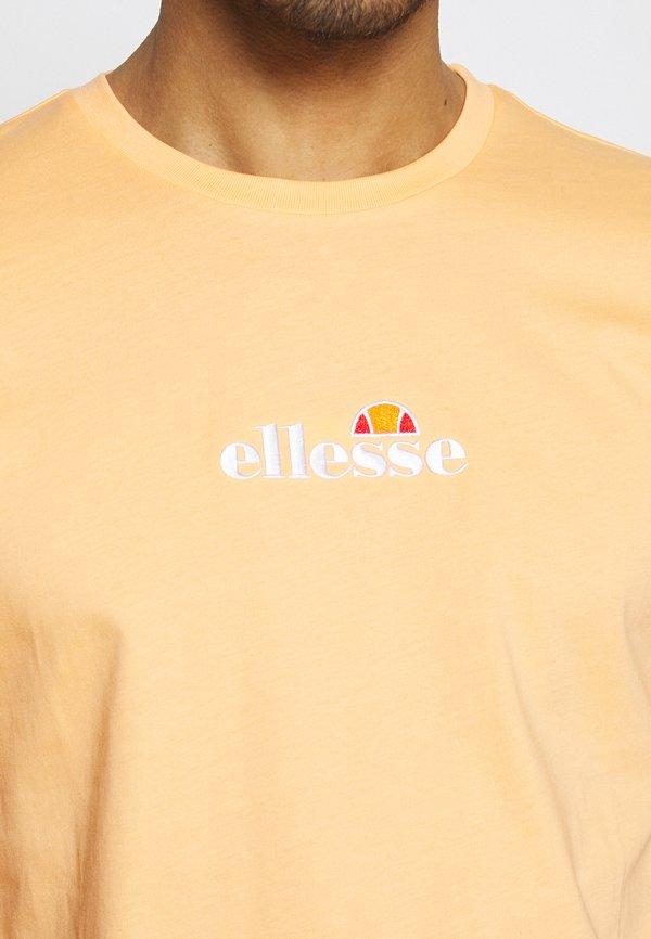Ellesse MAVOZ - T-shirt z nadrukiem - light orange/pomarańczowy Odzież Męska UQET