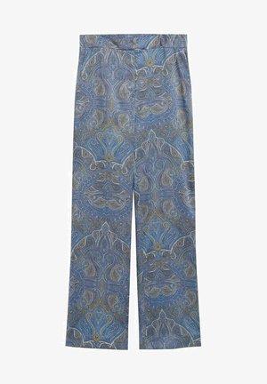 ESTAMPADO - Pantalones - azul