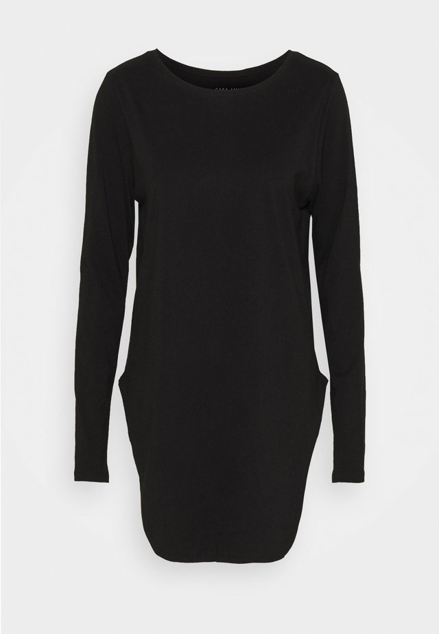 LONG SLEEVE TEARDROP TEE - Långärmad tröja - black