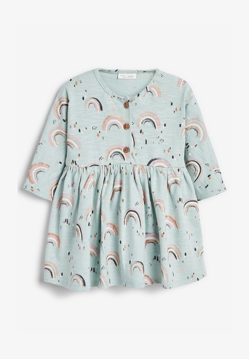 Next - RAINBOW PRINT - Day dress - teal