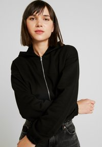 Nly by Nelly - CROPPED ZIP HOODIE - Sweatjacke - black - 5