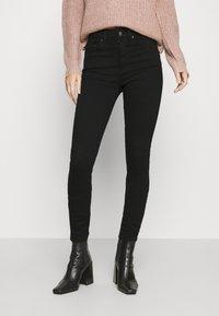 ONLY - ONLBLUSH HIGH WAIST - Jeans Skinny Fit - black denim - 0