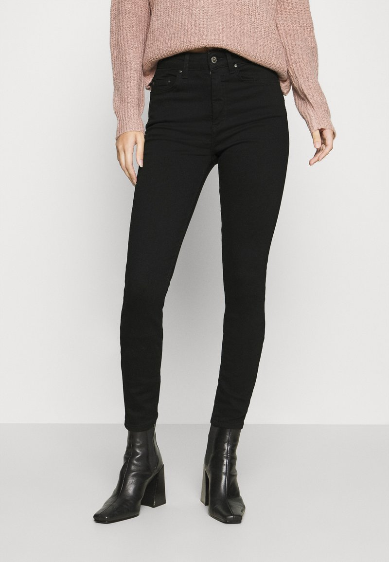 ONLY - ONLBLUSH HIGH WAIST - Jeans Skinny Fit - black denim