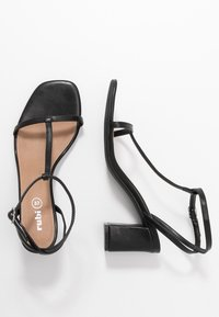 Rubi Shoes by Cotton On - MILA DOUBLE STRAP HEEL - Sandály - black - 3