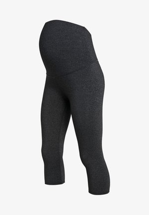 CORE CAPRI OVER BELLY TIGHT - 3/4 sportovní kalhoty - charcoal marle
