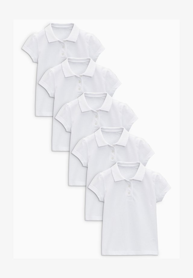 5 PACK  - Poloshirt - white