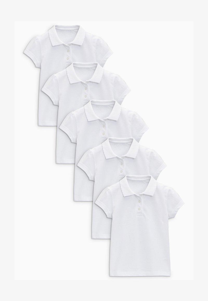 Next - 5 PACK  - Poloshirt - white