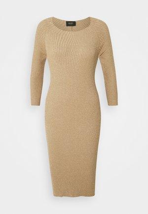 ABITO MAGLIA - Shift dress - gold lux